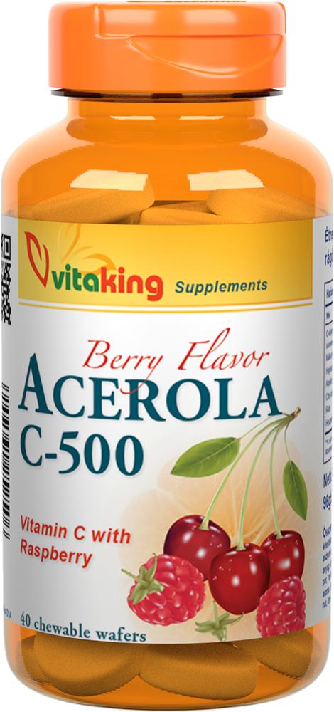 VitaKing Acerola C-500 40 žvečilnih tablet