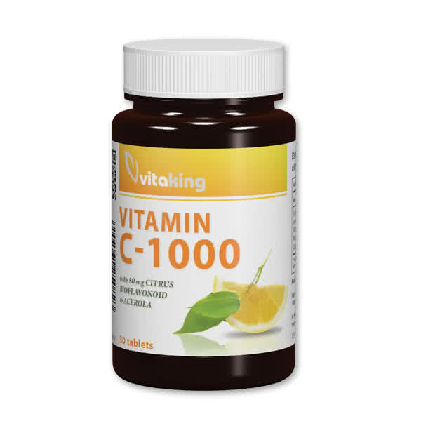 VitaKing Vitamin C-1000 with Bioflavonoids 30 tab.