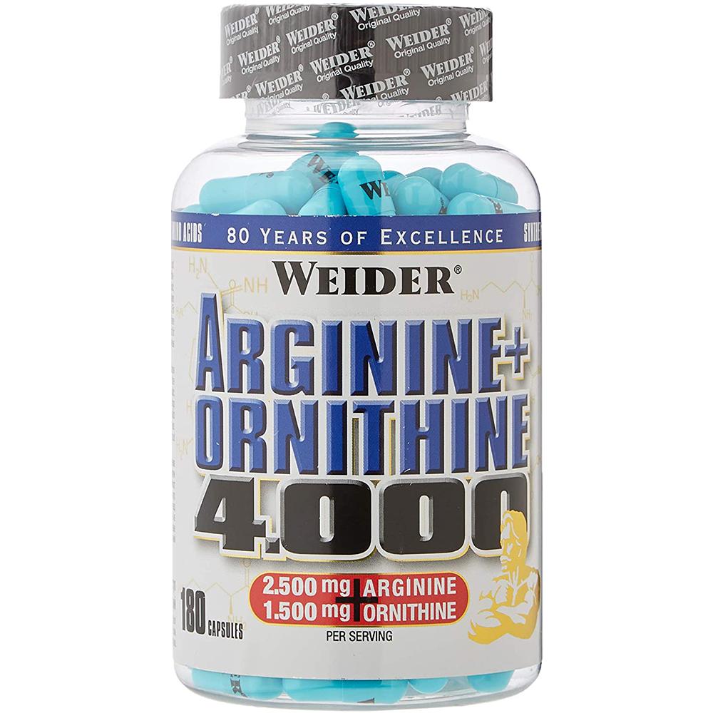 Weider Nutrition Arginine + Ortnithine 4.000 180 kap.