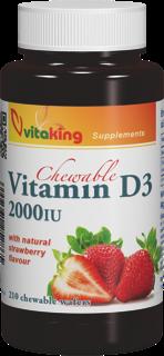 VitaKing D3 Vitamin 2000 210 žvečilnih tablet