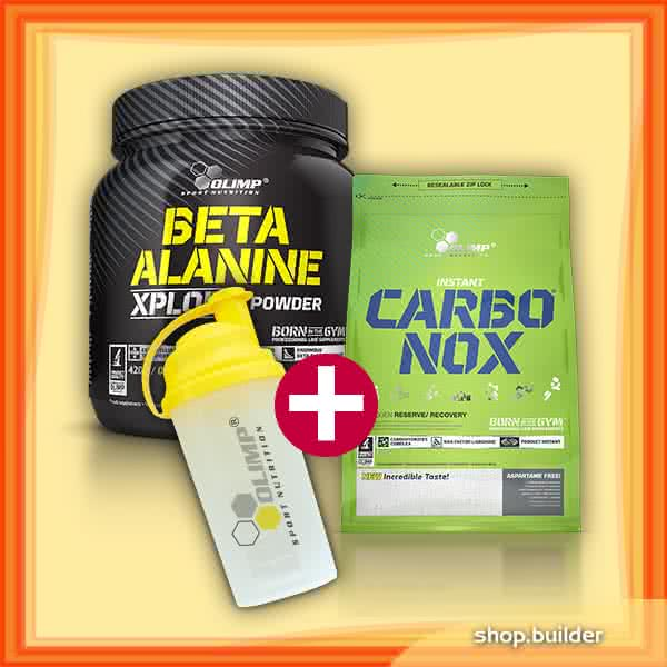 Olimp Sport Nutrition Beta Alanine Xplode + Carbo-NOX + Shaker set