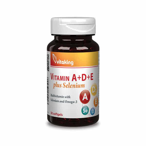 VitaKing Vitamin A+D+E plus Selenium 30 kap.