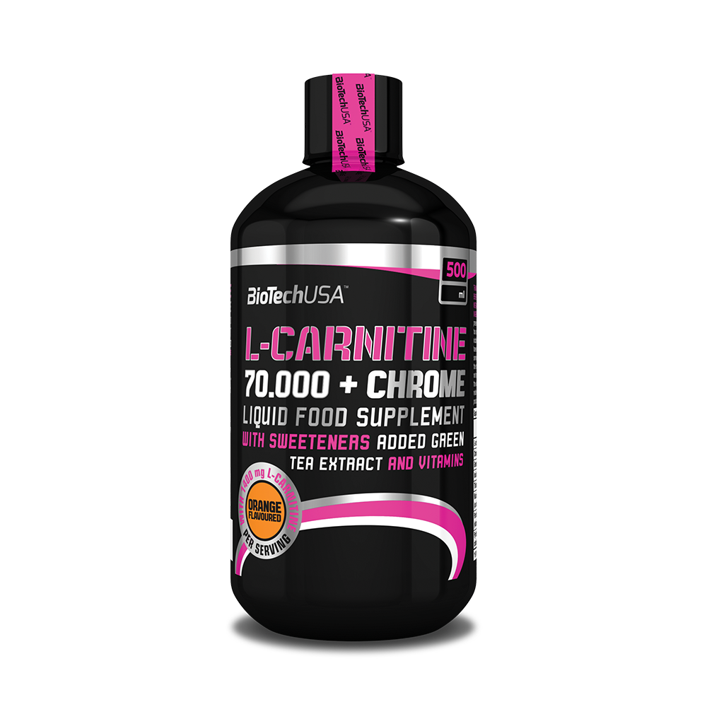 BioTech USA L-Carnitine Liquid 70.000 +Chrome 0,5 lit.