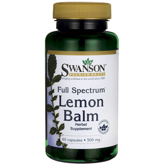 Swanson Full Spectrum Lemon Balm 60 kap.