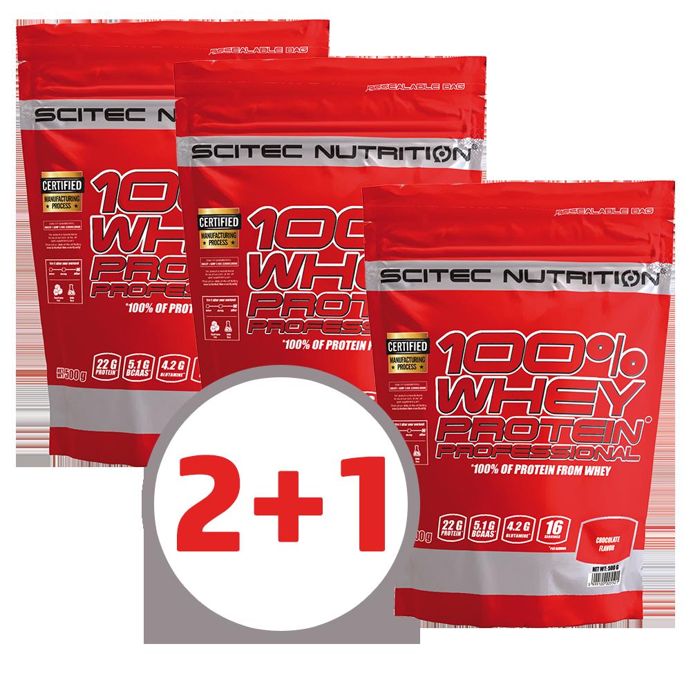 Scitec Nutrition 100% Whey Protein Professional 2+1 poklon